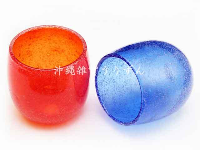 琉球ガラスの泡たる形グラス ギフトセット