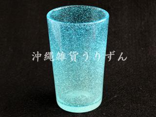 琉球ガラスの泡ロンググラス水色