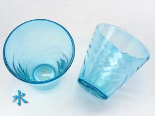 琉球ガラスの水色のグラス