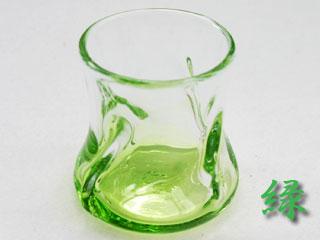 緑色のロックグラス