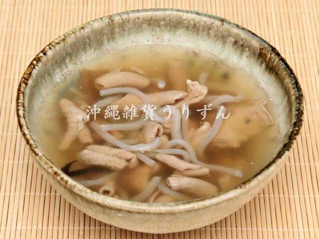 沖縄料理中味汁レトルト調理例