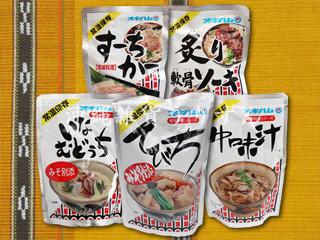 沖縄料理レトルト てびち、スーチカー、軟骨ソーキ、イナムドゥチ、中味汁