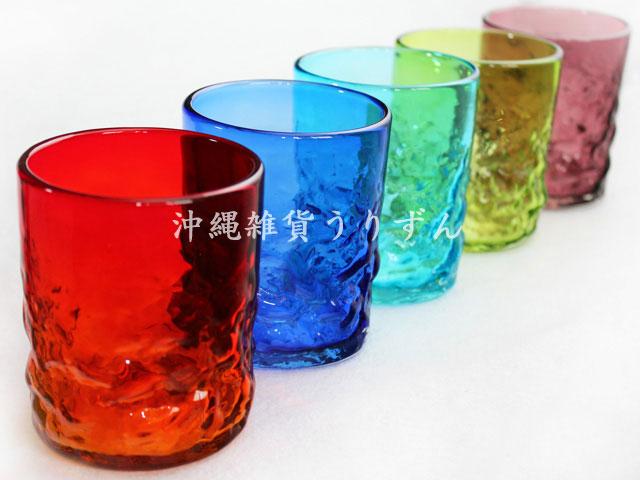 琉球ガラスのロックグラス 5個入ギフトセット