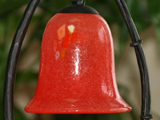 琉球ガラスのレトロ風ランプ