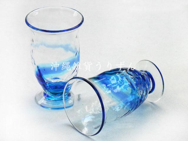 琉球ガラス,シェリーグラス,セット