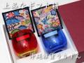 琉球ガラスのたる形グラスと紅型柄コースター ペアギフトセット