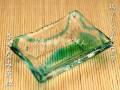 琉球ガラス,皿,緑