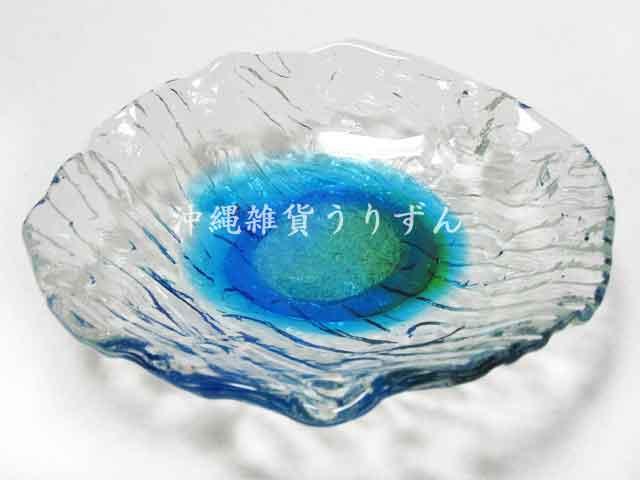 琉球ガラスの小皿