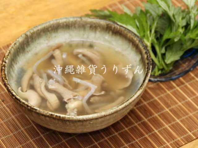 沖縄の伝統料理中味汁(豚もつスープ)