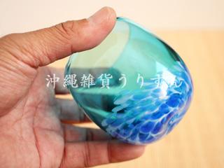 琉球ガラス,たるグラス,青,水色